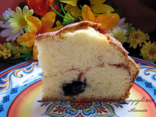 Less Pudge Blueberry Coffee Cake