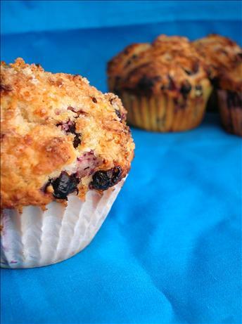 Lemon Crunch Blueberry Muffins