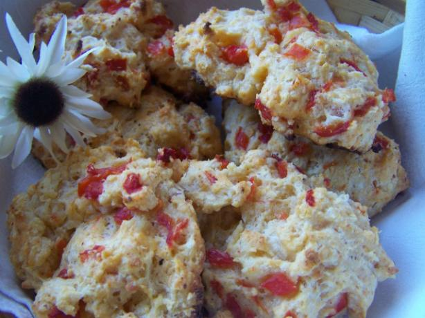 Roasted Red Pepper and Parmesan Biscuits
