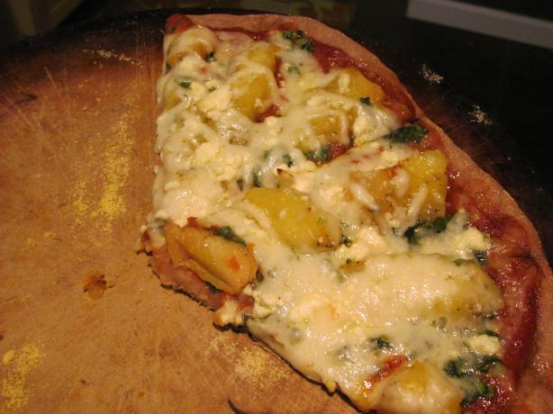 Roasted Squash and Sage Pizza (Or Pita Pizza or Burrito)