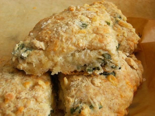 Cheese and Basil Giant Scones