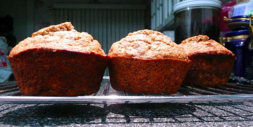 Whole Wheat Banana Flax Muffins