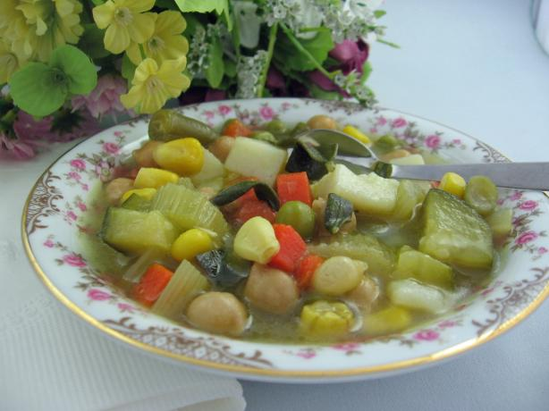 Tuscan Vegetable Soup With Fresh Sage