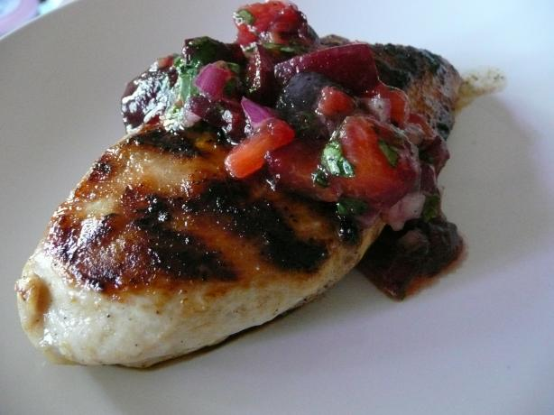 Grilled Chicken Breasts With Plum Salsa