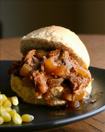 Crock Pot Shredded Beef Sandwiches