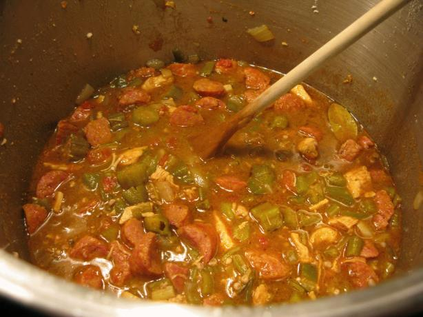 Rho's Chicken & Sausage Gumbo
