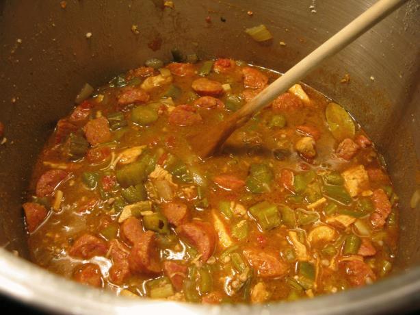 Rho's Chicken & Sausage Gumbo