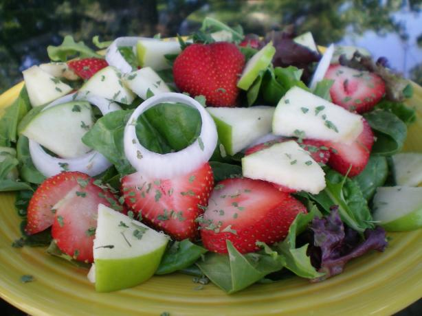 Weight Watchers Spinach and Fruit Salad