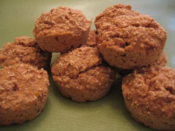 Fat-Free Peach Bran Muffins