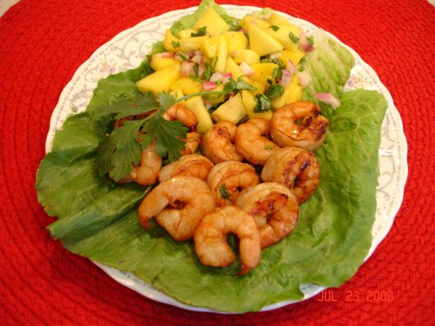 Grilled Shrimp With Mango Salsa
