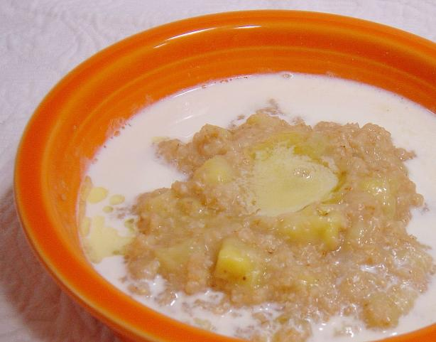 Oat bran-Banana Breakfast for One