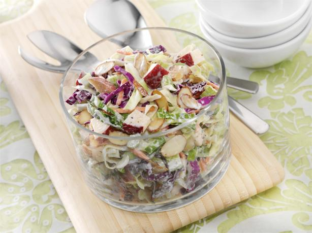 Cabbage, Apple and Almond Slaw