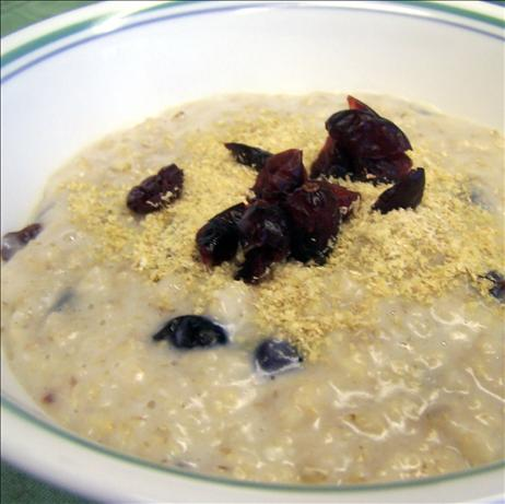 Creamy Maple Cranberry Oatmeal