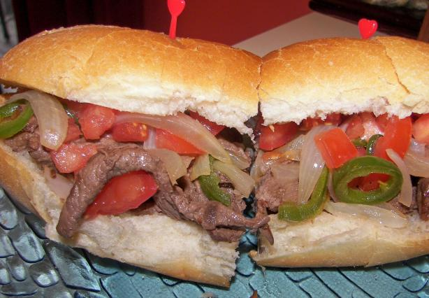 Onion 'n Pepper Beef Steak Sandwiches