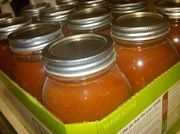 Canned Fresh Tomato Spaghetti Sauce