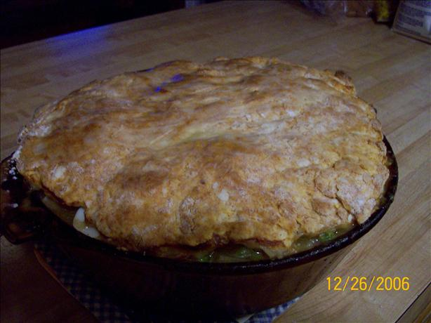 Chicken Pot Pie With Biscuit Topping
