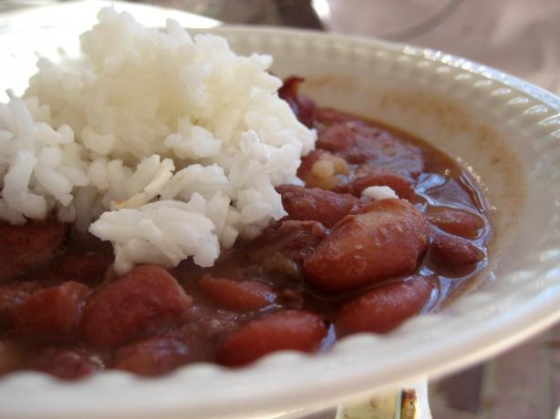 Cream-Style Red Beans and Rice