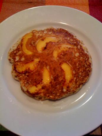 Peach and Poppy Seed Sour Cream Pancakes