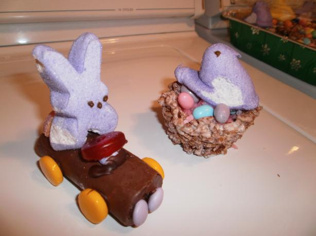Chick & Egg Krispies Nest Easter Treats