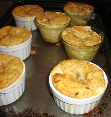 Bread Pudding With Bananas and Cream Cheese
