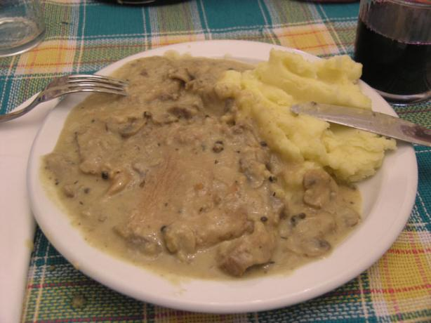 North Croatian Pork Chops in Mushroom Sauce