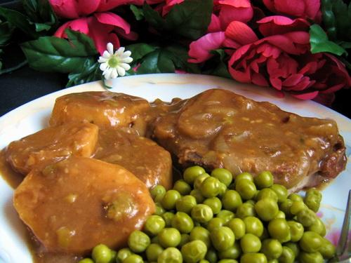 Tender Pork Chops in Gravy
