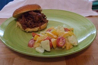 Slow Cooker 4th of July Chuck Roast Barbecue Sandwiches
