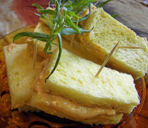 Elegant Tarragon and Tomato Butter Tea Sandwiches