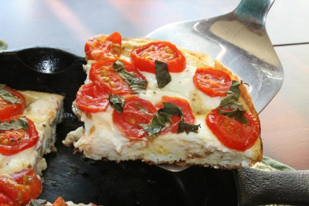 Tomato, Basil and Goat Cheese Frittata (For One)