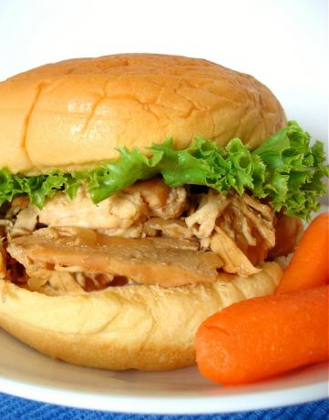 Savory Chicken Sandwiches from the Crock Pot