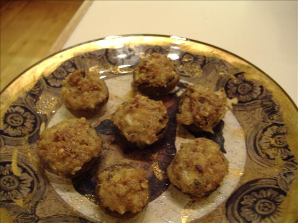 Blue Cheese & Hazelnut-Stuffed Mushrooms
