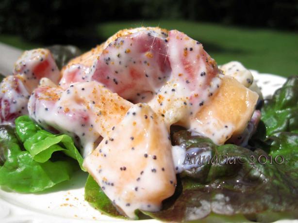 Lemon Poppy Seed Fruit Salad, Diabetic
