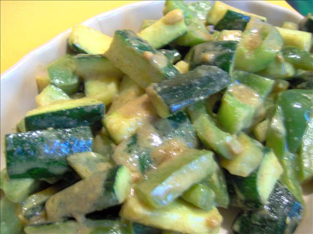 Courgette and Green Pepper 'sabzi' (Tori Aur Hari Mirch Ki Sabzi