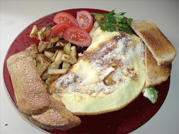 Mushroom, Bell Pepper, and Cheese Omelet