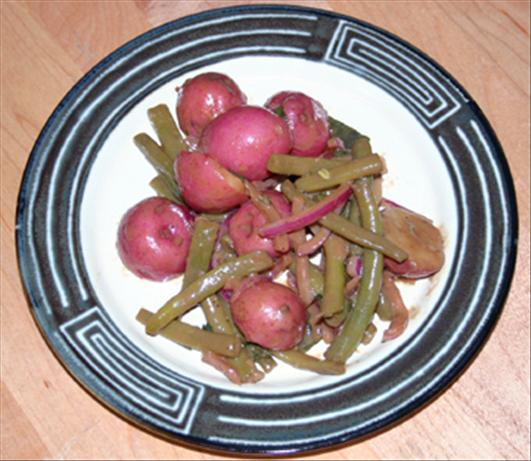 Garden Bean and Potato Salad With Balsamic Vinaigrette