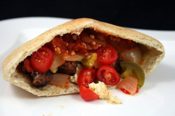 Sausage & Egg Pocket With Tomato Chutney
