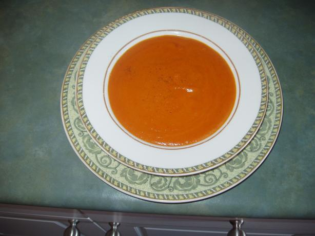 Cousin Tina's Roasted Red Pepper & Tomato Soup