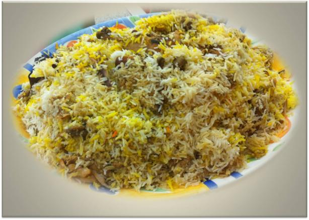 Chicken Biryani in Microwave