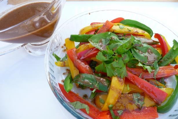 Tri Colored Pepper Salad W/ Vinaigrette Dressing