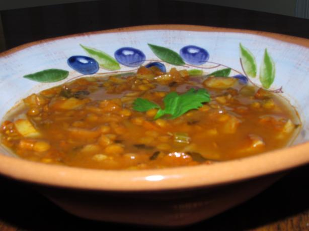 Curry Potato Lentil Soup