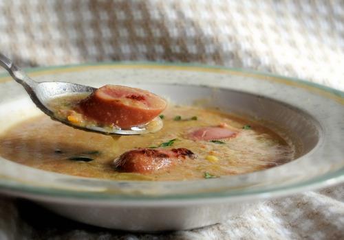 Lentil and Frankfurter Soup