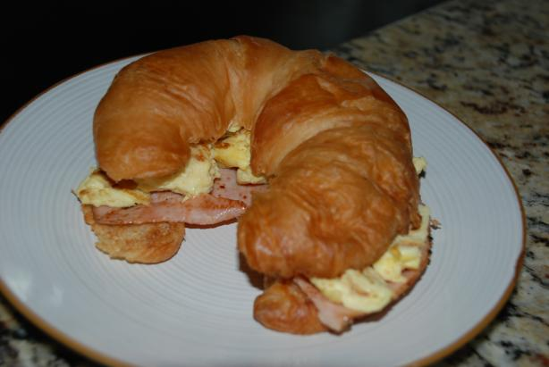 Carmen's Easy Cheesy Breakfast Croissant Sandwich