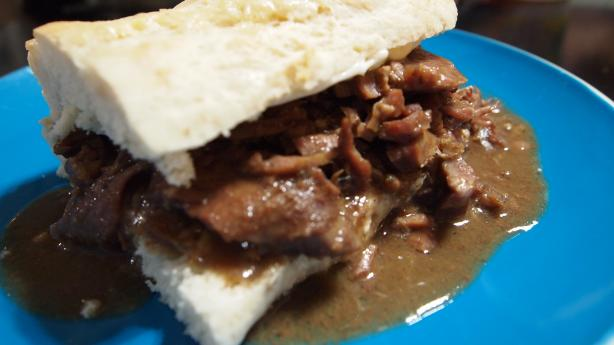 Roast Beef Po' Boy With Debris Gravy Recipe