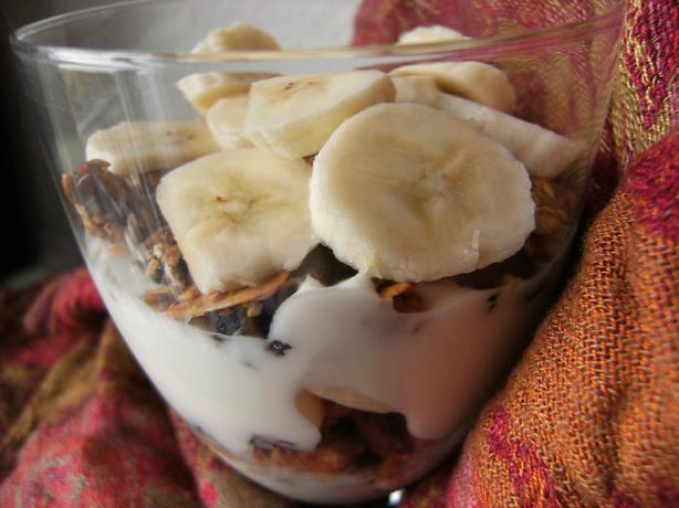 Yogurt, Granola and Bananas