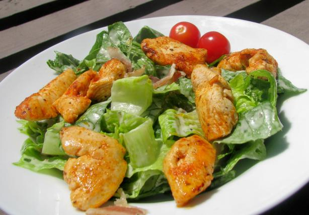Easy Cajun Chicken Caesar Salad