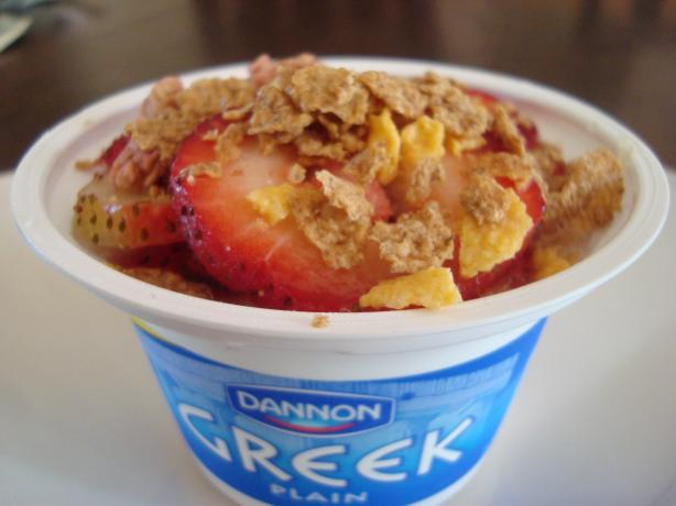 Greek Yogurt With Honey, Fruit and Granola