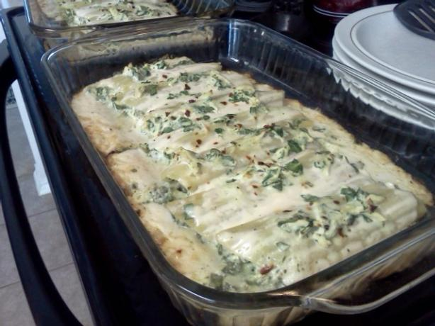 Chicken & Spinach Manicotti