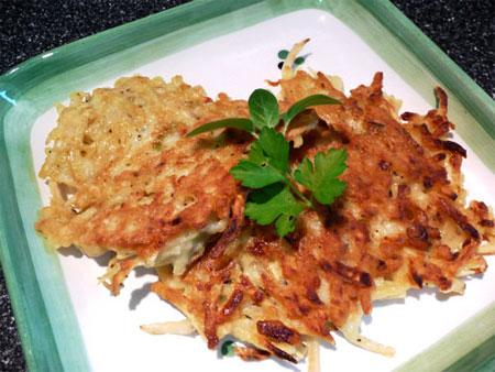 Sweet Potato, Onion and Thyme Pancakes