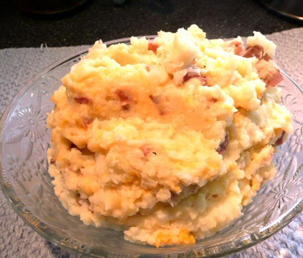 Cheesy Smashed Potatoes & Cauliflower