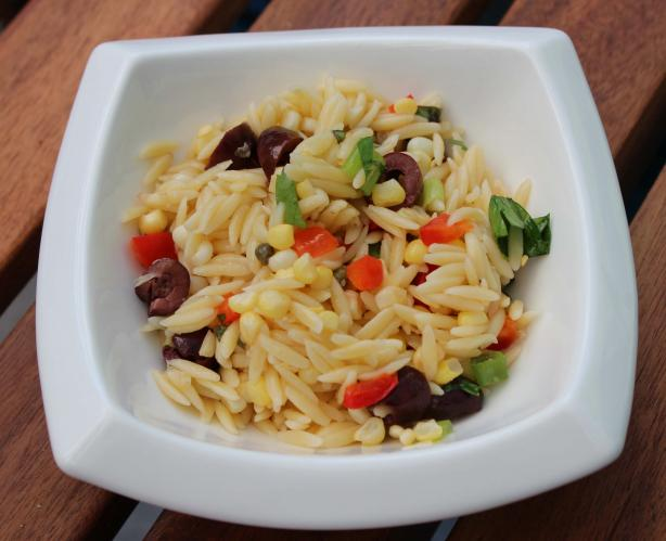 Mediterranean-Style Orzo Salad With Corn